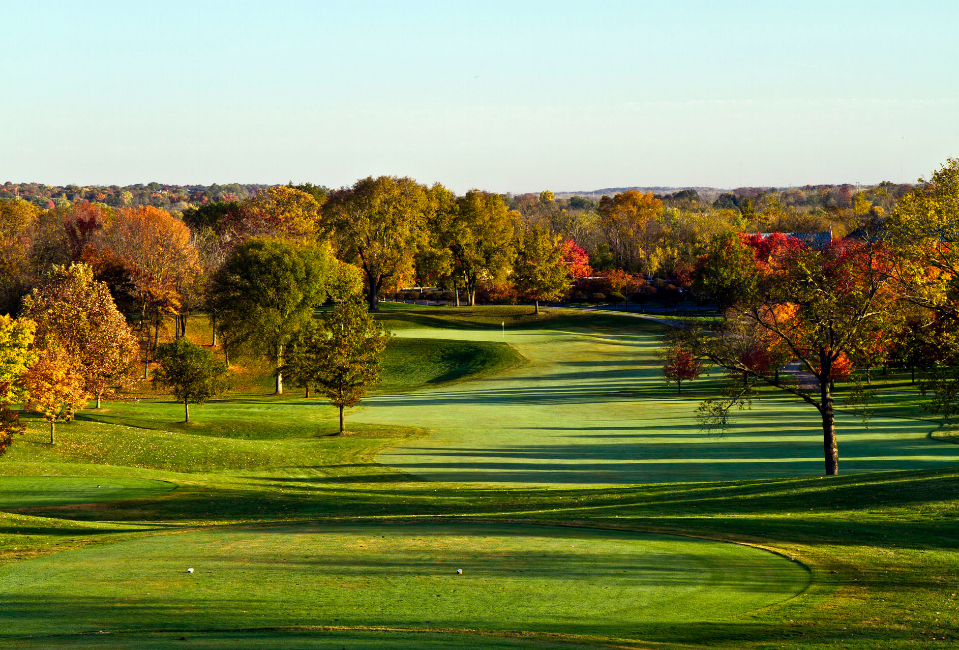 Fall colors decorate the course at Country Club of the North